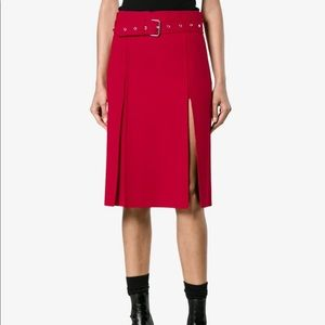 Pleated Kilt-style with Front Splits Skirt